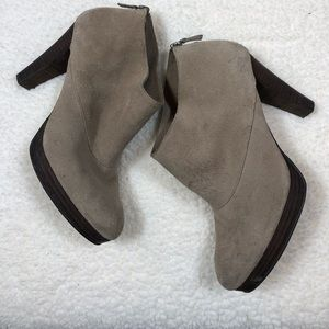 Cole Haan Tan Suede Ankle Booties